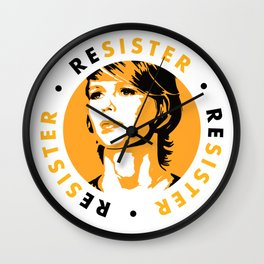 ReSister - Free Chelsea Manning Political Art Wall Clock
