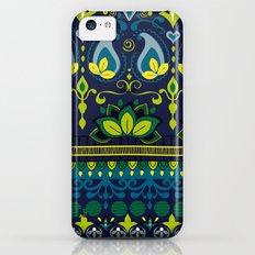 Yellow & Blue Boho Floral Pattern iPhone 5c Slim Case