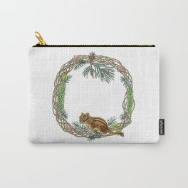 Squirrel wreath Carry-All Pouch