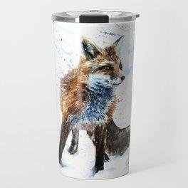Fox watercolor Travel Mug