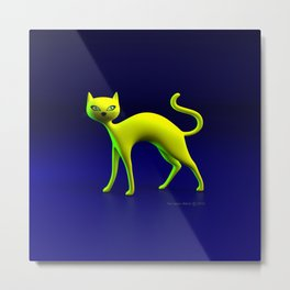 The Yellow Cat By THE-LEMON-WATCH Metal Print