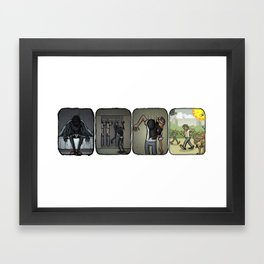 Dressing Up Framed Art Print