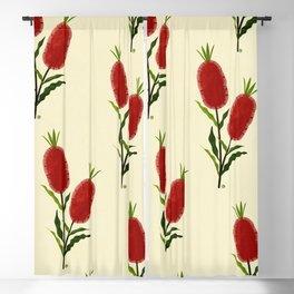Australian Bottlebrush Red Flowers Blackout Curtain
