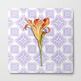 Daylily Lace Metal Print