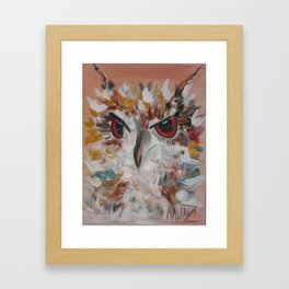 Owl with Flair Framed Art Print