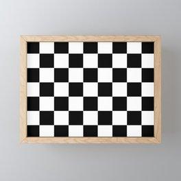 Traditional Black And White Chequered Start Flag Framed Mini Art Print