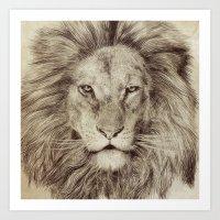 leo Art Prints featuring Leo by Eric Fan