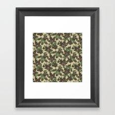 Raccoon Lake - Green Framed Art Print