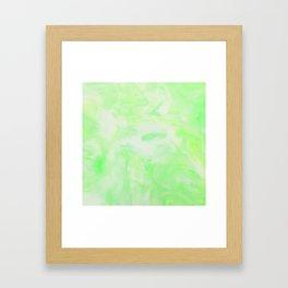 Neon Green Marble Framed Art Print