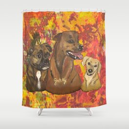 Dogs Bailey , Jake & Maggie Shower Curtain