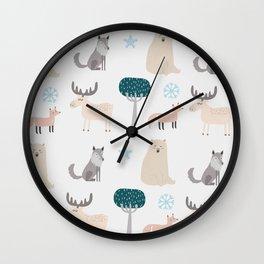 Forest Fun Wall Clock