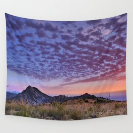 Sunset at the mountains. Boca de la Pesca Wall Tapestry