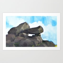 Study of Rocks Art Print