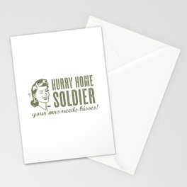 Hurry Home Soldier Stationery Cards