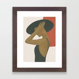 Lady in a Black Dress Framed Art Print