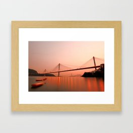 Hong Kong–Zhuhai–Macau Bridge Framed Art Print