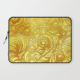 Gold Floral Pattern Laptop Sleeve