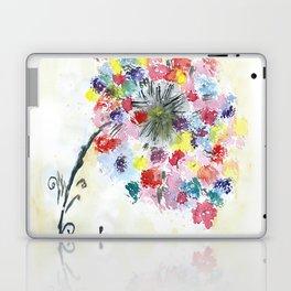 Dandelion watercolor illustration, rainbow colors, summer, free, painting Laptop & iPad Skin