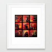 numbers Framed Art Prints featuring Numbers by Liz Moran