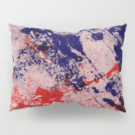 Hot And Cold - Textured Abstract In Blue, Red And Black Pillow Sham
