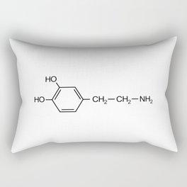 dopamine chemical formula Rectangular Pillow