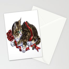 Holiday Kitten Stationery Cards