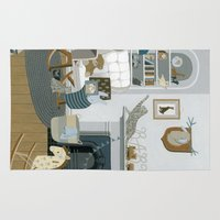 nursery Area & Throw Rugs featuring Baby Animal Nursery by Yuliya