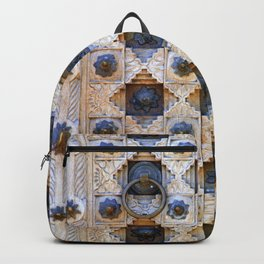 Wood Door Texture Backpack
