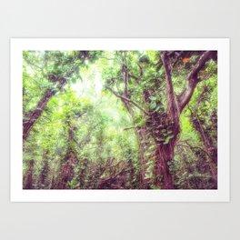 Dreamy Jungle Canopy Art Print