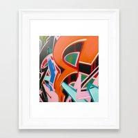 graffiti Framed Art Prints featuring Graffiti by Dreks