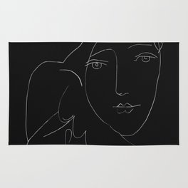 Picasso Line Art - Dove and Woman Rug