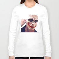 christian Long Sleeve T-shirts featuring Christian Bale by Pazu Cheng