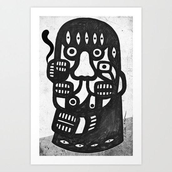 Magritte l'homme pipe sans la pipe Art Print