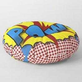 Pop Art Pow in comic Lichtenstein style Floor Pillow