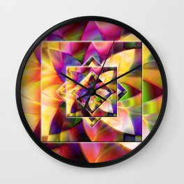 Number 1 Abstract by Mark Compton Wall Clock