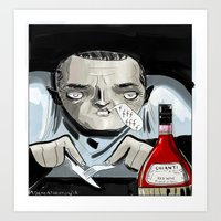silence of the lambs Art Prints featuring Silence of the Lambs' Hannibal Lecter by AdamAddams