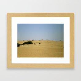 Gliding the Dunes Framed Art Print