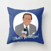 scully Throw Pillows featuring Vin Scully by Eric J. Lugo