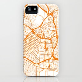 Street MAP Los Angeles // Orange iPhone Case