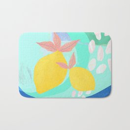 Pink Lemonade - Shapes and Layers no.32 Bath Mat