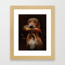 Hunter's Dog Framed Art Print