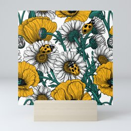 The meadow in yellow Mini Art Print