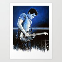 john mayer Art Prints featuring John Mayer Blues by ChrisGreavesCreative
