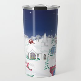 Christmas carolers in the country Travel Mug