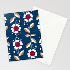 Blue floral pattern . Stationery Cards