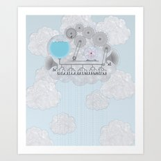 Cross-Section of a Cloud Art Print