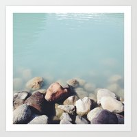 Milky Waters square Art Print