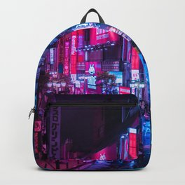 Post Apocalyptic Neon City Blues  - Tokyo Backpack