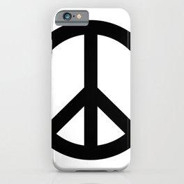 Peace (Black & White) iPhone Case
