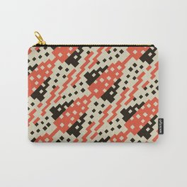 Chocktaw Geometric Square Cutout Pattern - Iron Oxide Carry-All Pouch